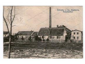 308 ANTONÍNŮV DŮL ŠTOKY, okres Jihlava, Vysočina, sklárna Schindler, továrna, ČB světlotisk, MF