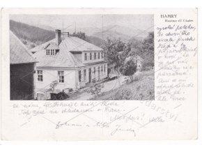 Hamry Hojsova Stráž hotel U Císaře ČB foto zvětšený MF 1a